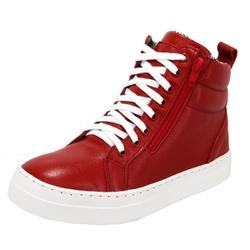 Bota Treino Academia Sneaker Fitness Vermelha em C... - SELTENBRASIL