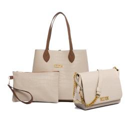 Bolsa Feminina Kit Com 3 Bolsas Grande Pequena E N... - SELTENBRASIL