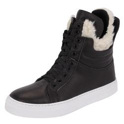 Bota Treino Academia Sneaker Inverno Preta em Cour... - SELTENBRASIL