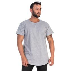 Camiseta Masculina Longline Cinza -Selten - SELTENBRASIL