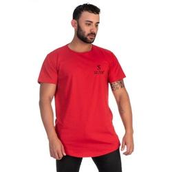 Camiseta Masculina Long Line Vermelha Original Sel... - SELTENBRASIL