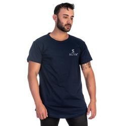 Camiseta Masculina Long Line Azul Original Selten ... - SELTENBRASIL