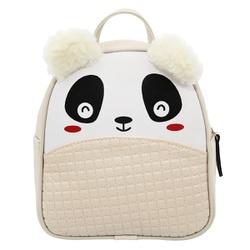 Mochila Escolar Infantil Bege Panda com Orelhinhas... - SELTENBRASIL