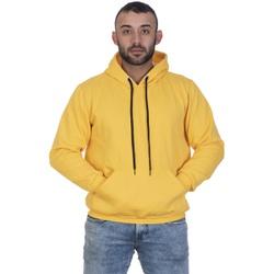 Moletom Masculino Amarelo Liso Canguru - SELTENBRASIL