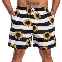 Short Tactel Masculino Summer Floral Girassol - Se... - SELTENBRASIL