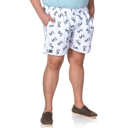 Short Masculino Plus Size Tactel Branco Selten - SELTENBRASIL