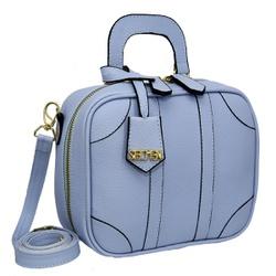 Bolsa Feminina Quadrada Sydney Azul Lilás - SELTENBRASIL