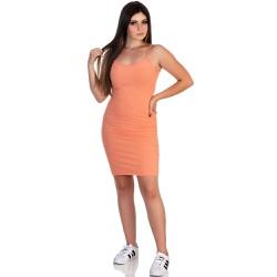 Vestido Feminino Canelado Laranja - Selten - SELTENBRASIL
