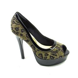 Sapato Feminino Peep Toe Invoice 511003 Salto Alto - 64056 - Sensação Store