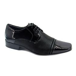 Sapato Social Masculino Jota Pe Air Fergus 73252 Couro Preto - 85708 - Sensação Store