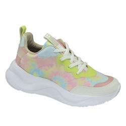 Tênis Sneaker Feminino Via Marte 2014907 Chuncky Multicolorido - 88214 - Sensação Store