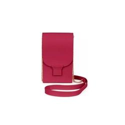Bolsa Feminina Phone Case Petite Jolie Plus PJ2745 Transversal Vinho - 86438 - Sensação Store