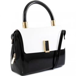 Bolsa Feminina Petite Jolie Biddie PJ5403 Branco/Preto - 89599 - Sensação Store