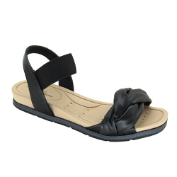 Sandália Flat Feminina Modare 7154107 Preto - 89472 - Sensação Store