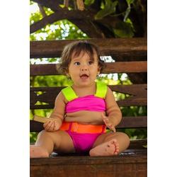 Biquíni Infantil Sereia Chiclete Hotpant - 101062 - Sereia de Noronha