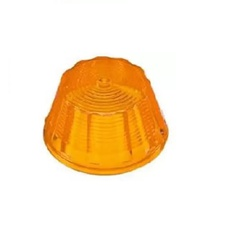 Lente Lanterna Lateral Tipo Pudim Pequena Amarela - Sermi