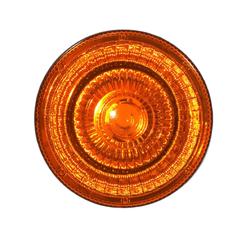 Lente Lanterna Interna Cabine Redonda Amarela - Sermi