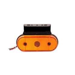 Lanterna LED Lateral Carreta Facchinni Amarela - Sermi