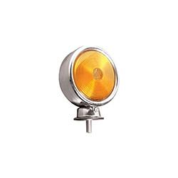 Lanterna Traseira 1 Face Foguinho Amarela (cromada - Sermi