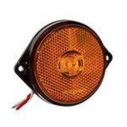 Lanterna LED Lateral Carreta Amarela (66mm C/ Chic... - Sermi