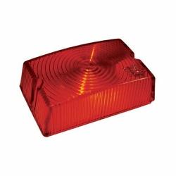 Lente Lanterna Lateral Bau Quadrada Vermelha GF003... - Sermi