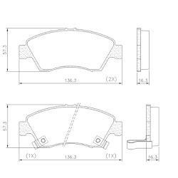 Pastilha Freio Dianteiro Honda Civic 1.5 / 1.6 16v... - Sermi