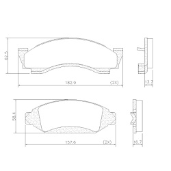 Pastilha Freio GM A / C / D10 / 20 79/92 Ford F100... - Sermi