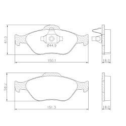 Pastilha Freio Ford Fiesta 1.0, 1.4, 1.6 C/ ABS Ec... - Sermi