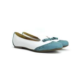 Sapatilha Branca e Azul - 37018 - SERRA BELLA CALCADOS