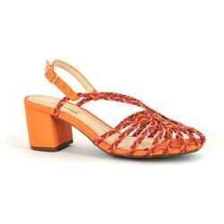 Sapato Couro Trança Sunset - 50280-10 - SERRA BELLA CALCADOS
