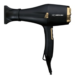 Secador MQ Hair Vortex Gold Ion Preto 2400 Watts - 220 Volts - Shop da Beleza