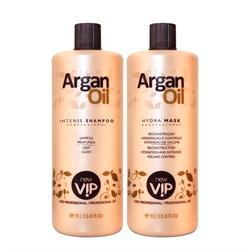 New Vip Argan Oil Escova Progressiva Original Nova Embalagem Kit - 2 x 1 Li... - Shop da Beleza