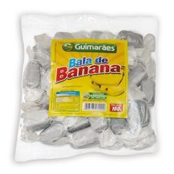 Bala de Banana Embrulhada Pacote 160g - GUIMARÃES