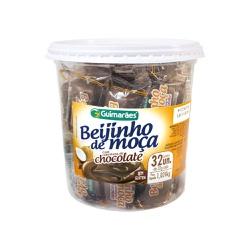 Beijinho de Moça com Cobertura de Chocolate Pote 1.024kg - GUIMARÃES