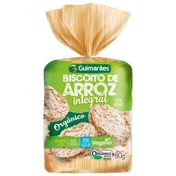 Biscoito de Arroz Integral Orgânico 80g - GUIMARÃES