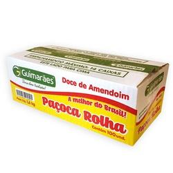 Paçoca Rolha C/100un 1,6kg - GUIMARÃES