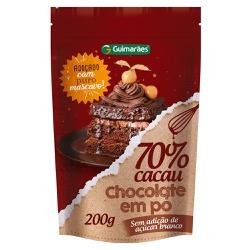 Chocolate Em Pó 70% Cacau 200g - GUIMARÃES