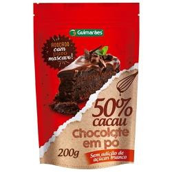 Chocolate Em Pó 50% Cacau 200g - GUIMARÃES