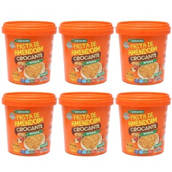 Kit Combo 06 unidades Pasta de Amendoim Crocante 1.005kg - GUIMARÃES