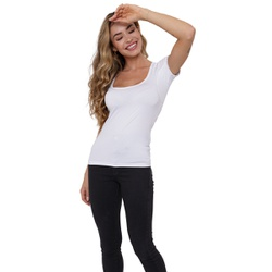 Camisa Skin Shirt Branca Feminina - Skin Shirt