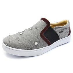Casual Masculino Shoes Grand 1142/3 Jeans Cinza co... - SOCALCADOS