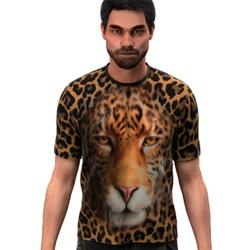 Camiseta Camisa Onça Pintada 3D Floral Tye Die Swa... - Stamp for All
