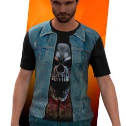 Camiseta Camisa Colete de Jeans Moto Clube Blusa 0... - Stamp for All