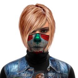 Mascara Bandana Touca Reutilizavel Caveira Mexican... - Stamp for All