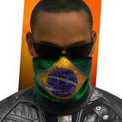 Mascara Bandana Touca Bandeira do Brasil 0001 - SF... - Stamp for All