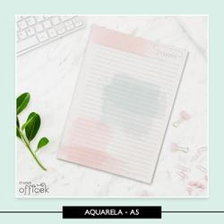 Miolo para Caderno - Aquarela - 6E9B59 - Studio Office K