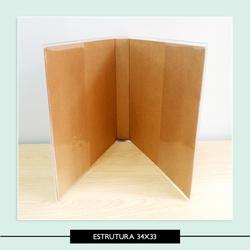 Estrutura álbum 33 x 34 cm - 7CCE3E - Studio Office K