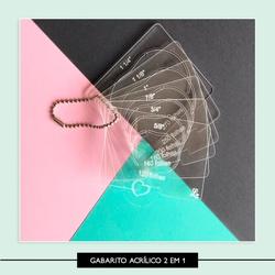Gabarito de wire-o 2 em 1 - Acrílico - G2X1AC - Studio Office K