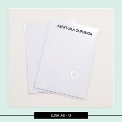 Luva Plástica A5 - Vertical - 22,5 x 16,5 cm - 6E3... - Studio Office K