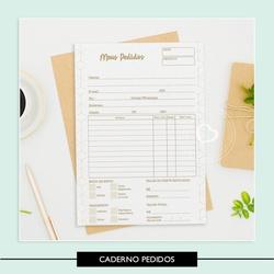 Miolo para Caderno - Pedidos - 70A6DA - Studio Office K